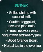 typical menus maintenance dinner