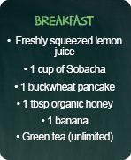 typical menus detox breakfast