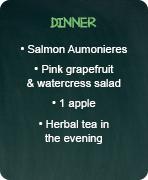 typical menus detox dinner