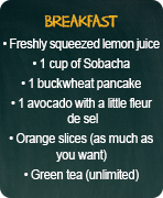 typical menus attack breakfast