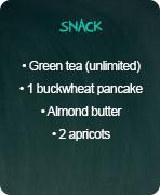 typical menus maintenance snack